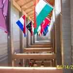 """Hall of Nations"" inside the addition at Liberty Bible Church"