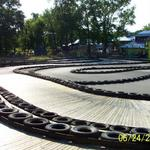 The finished go-cart track at Zao Island