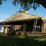 ... The carport roof In the process ...