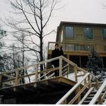 Built a custom deck and staircases for a home in Beverly Shores